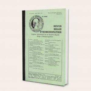 S'abonner à la revue Belge d'Homéopathie par Eric Vanden Eynde